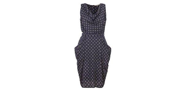 Dámské tmavě modré šaty s potiskem Uttam Boutique