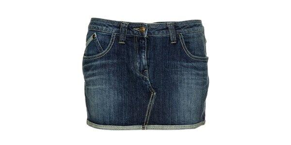 Dámská modrá džínová minisukně Freesoul