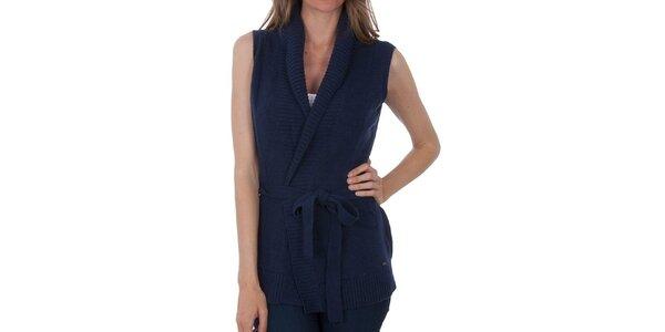 Dámská tmavě modrá pletená vesta Tommy Hilfiger