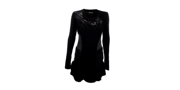 Dámské černé šaty s aplikacemi Angels Never Die