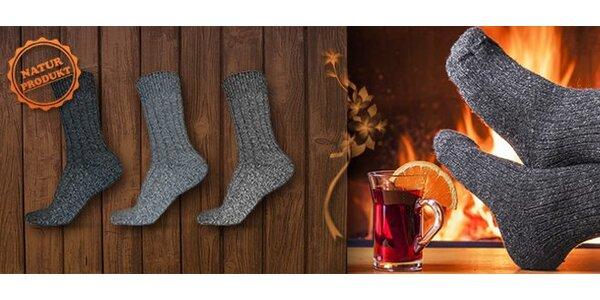 6 párů kvalitních teplých ponožek z ovčí vlny