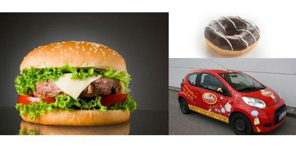 210 Kč za 2x BaconCheesburger a 2x americký donut se SLEVOU 41%!