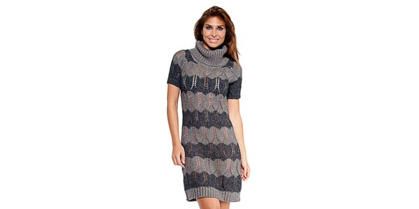 Dámské šedé pletené šaty Kool