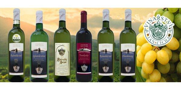 6 vín z blatnického vinařství Jana Cíchy