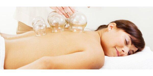 30 nebo 60 minut baňkové masáže proti bolestem zad