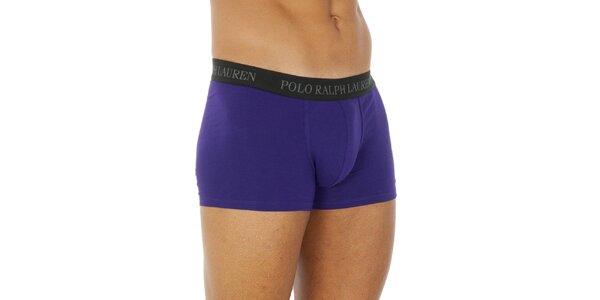 Pánské fialové bavlněné boxerky Ralph Lauren