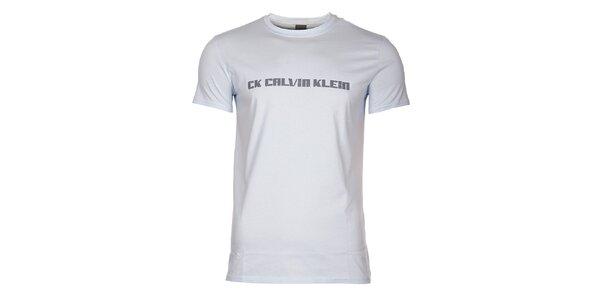 Pánské světle modré tričko Calvin Klein s potiskem