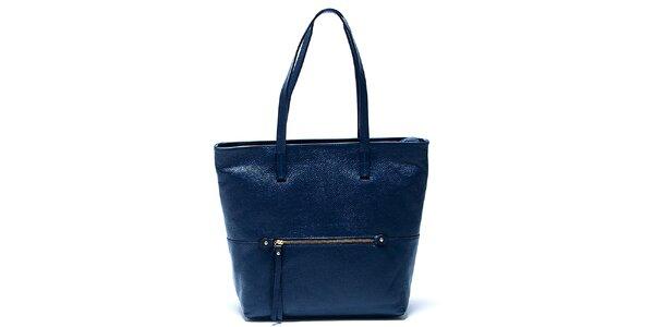 Elegantní modrá kožená kabelka Renata Corsi