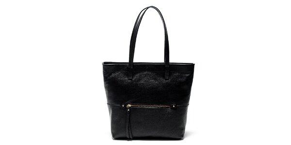 Elegantní černá kožená kabelka Renata Corsi