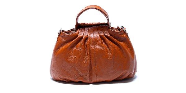 Originální kožená kabelka v koňakové barvě Renata Corsi