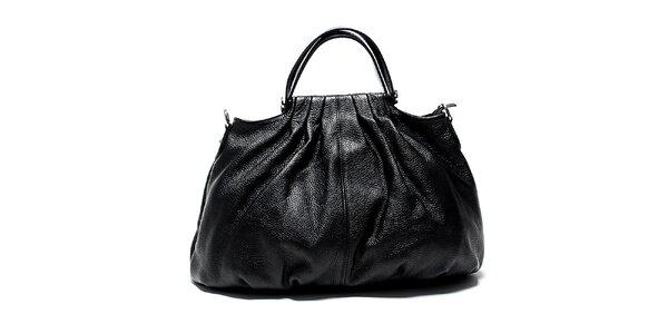 Originální černá kožená kabelka Renata Corsi