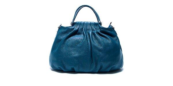 Originální zeleno-modrá kožená kabelka Renata Corsi 7d917c909e0