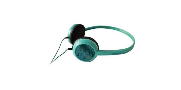 Designová modro-zelená sluchátka Frends