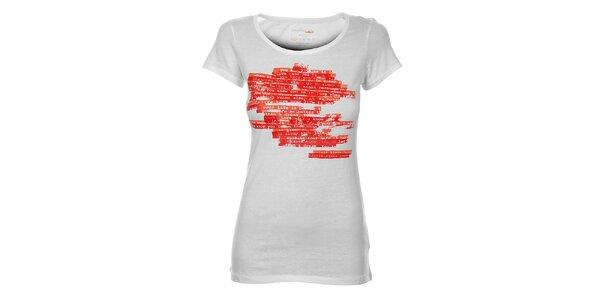 Dámské bílé tričko Calvin Klein s červeným potiskem