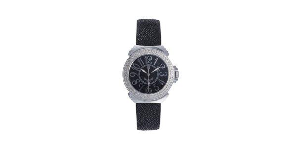 Dámské černé analogové hodinky Lancaster s černým displejem