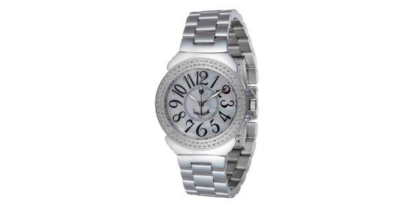 Dámské ocelové hodinky s bílým displejem Lancaster