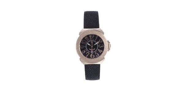 Dámské růžovo-černé hodinky s černým displejem Lancaster