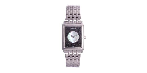 Dámské stříbrné ocelové hodinky Lancaster s krystaly