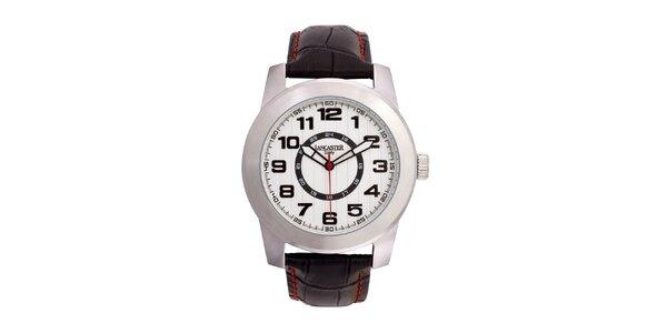 Pánské ocelové hodinky Lancaster s bílým ciferníkem