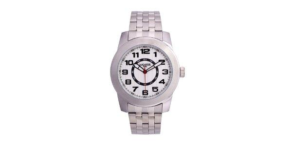 Pánské stříbrné hodinky Lancaster s bílým ciferníkem
