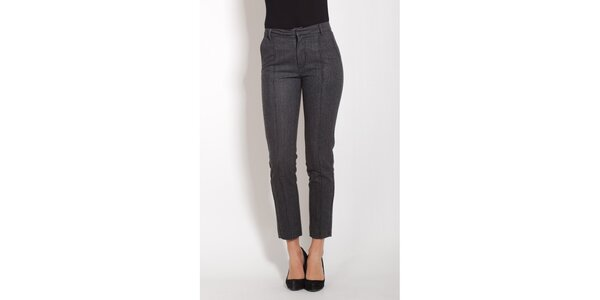Dámské šedé kalhoty s puky Lois
