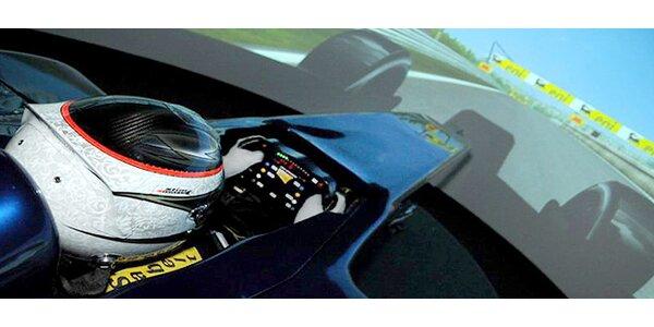 30 minut v simulátoru jezdců F1 - jediný v ČR