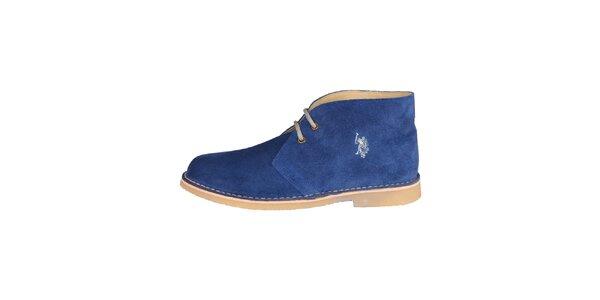 Pánské tmavě modré kotníčkové semišové boty U.S. Polo