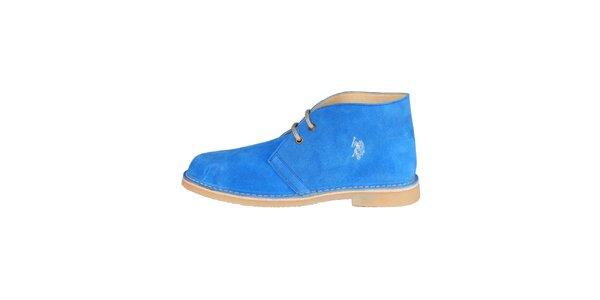 Pánské modré kotníčkové semišové boty U.S. Polo