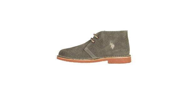 Dámské šedé šněrovací boty U.S. Polo