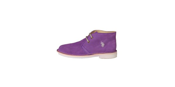 Dámské fialové šněrovací boty U.S. Polo