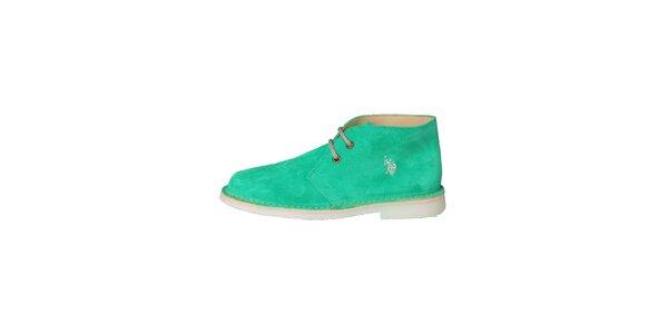 Dámské mátově zelené šněrovací boty U.S. Polo