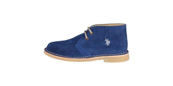 Dámské tmavě modré šněrovací boty U.S. Polo
