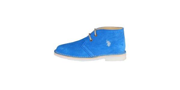 Dámské modré šněrovací boty U.S. Polo