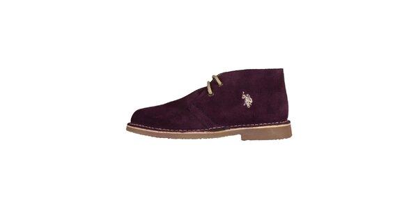 73b7d3e90325 Dámské tmavě fialové šněrovací boty U.S. Polo