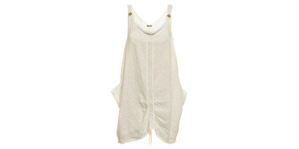 Dámské bílé lněné šaty Puro Lino
