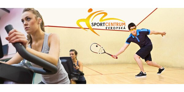 Permanentka na squash i spinning nabitá na 2000 Kč