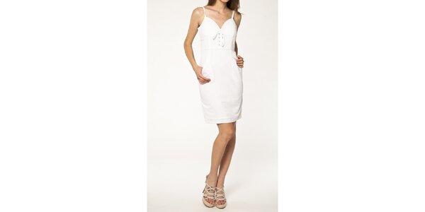 Dámské bílé šaty se špagetovými ramínky Tantra