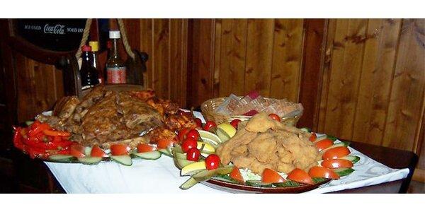 Raut pro 10 lidí - 3 kg masa, zeleninová obloha a chléb