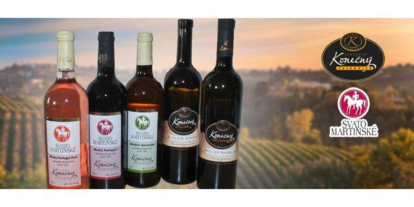 Sada 6 vín z Čejkovic vč. svatomartinských