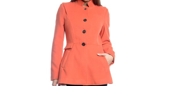 Dámský krátký oranžový kabátek Bella