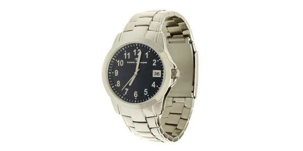 Ocelové hodinky Tom Tailor s tmavě modrým ciferníkem
