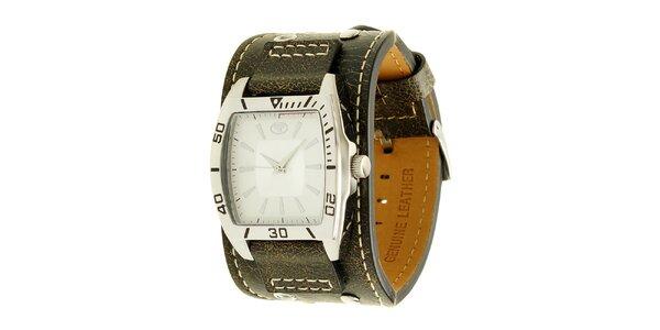 Černé náramkové retro hodinky s analogovým ciferníkem Tom Tailor