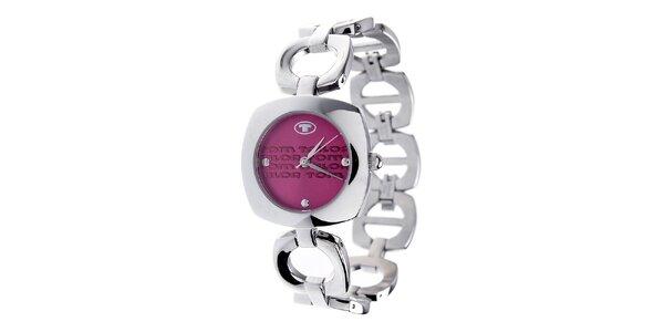 Dámské ocelové hodinky Tom Tailor s růžovým ciferníkem