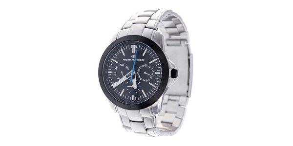 Pánské ocelové hodinky Tom Tailor s černým ciferníkem