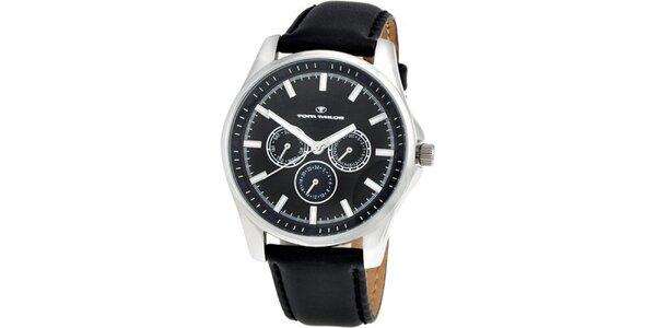 Pánské černé analogové hodinky Tom Tailor
