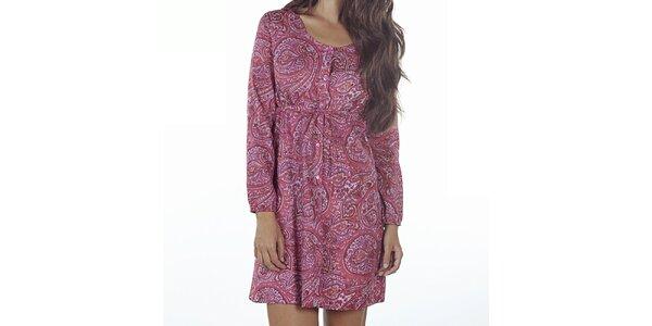 Dámské růžové šaty s potiskem Wanda