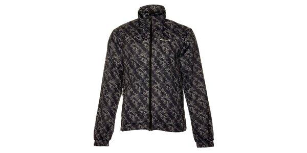 Pánská tmavě šedá softshellová bunda Envy s potiskem