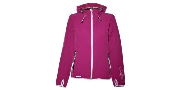 Dámská purpurová softshellová bunda Alpine Pro