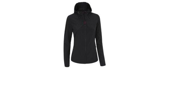 Dámská černá softshellová bunda Maier s kapucí