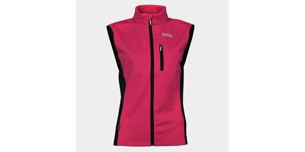 Dámská růžová softshellová vesta Sweep s černými detaily